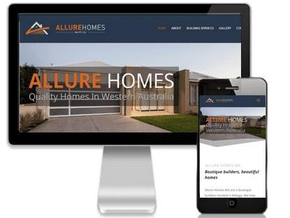 Website design by Vivacity Marketing - Allure Homes