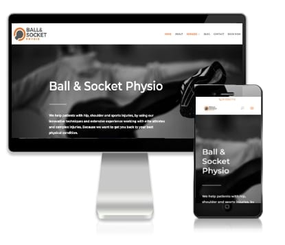 Web Design Client - Ball and Socket Physio