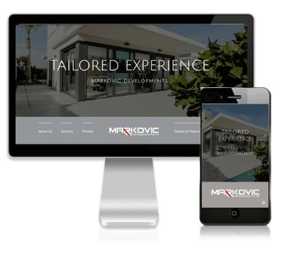 Vivacity Marketing Website Design Client - Markovic Developments