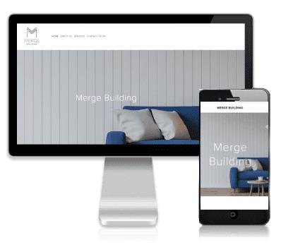 Website design by Vivacity Marketing - Merge Building