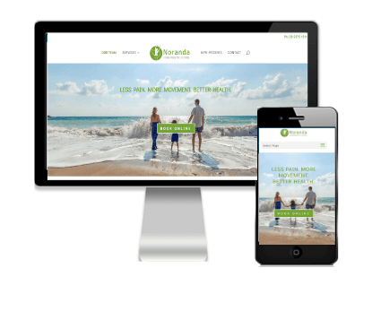 Vivacity Marketing Web Design Client - Noranda Chiropractic