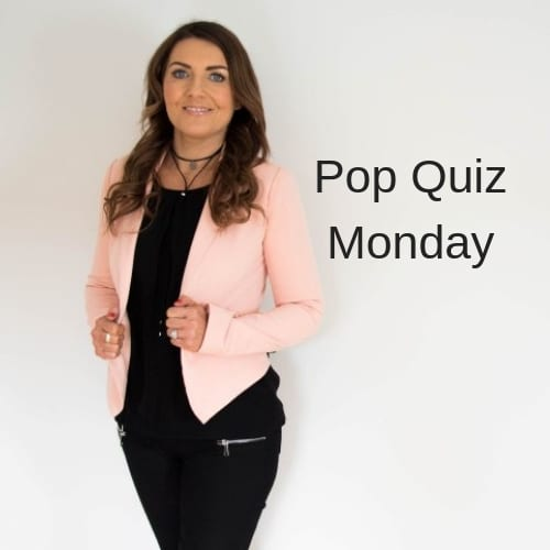 Pop Quiz Monday featuring Vanessa Geraghty
