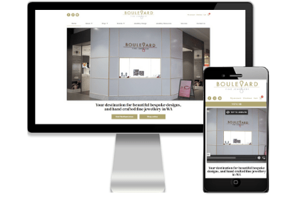 Boulevard Fine Jewellery Website - Designed by Vivacity Marketing