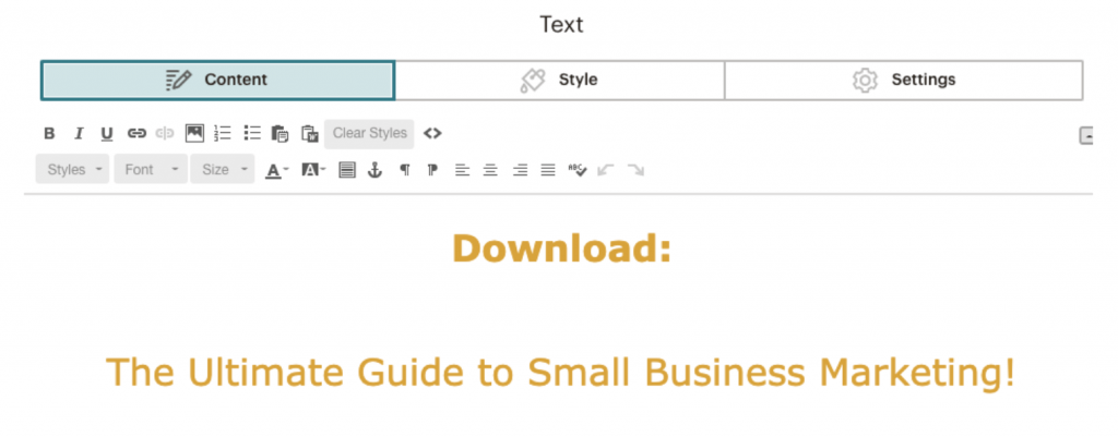 Add a headline to your Mailchimp template