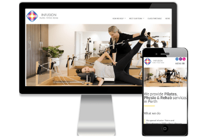 Infusion Physio and Pilates website by Vivacity Marketing
