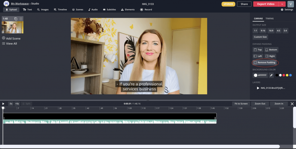 subtitles on a video