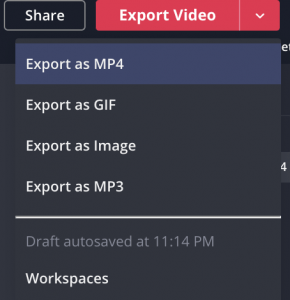 Export your video with subtitles